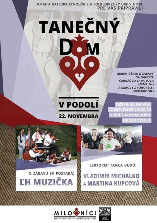 TANEČNÝ DOM V PODOLÍ S MUZIČKOU – 22.11.2014