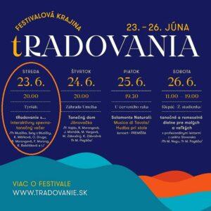 MUZIČKA na festivale tRADOVANIE, Tyršák – 23.6.2021